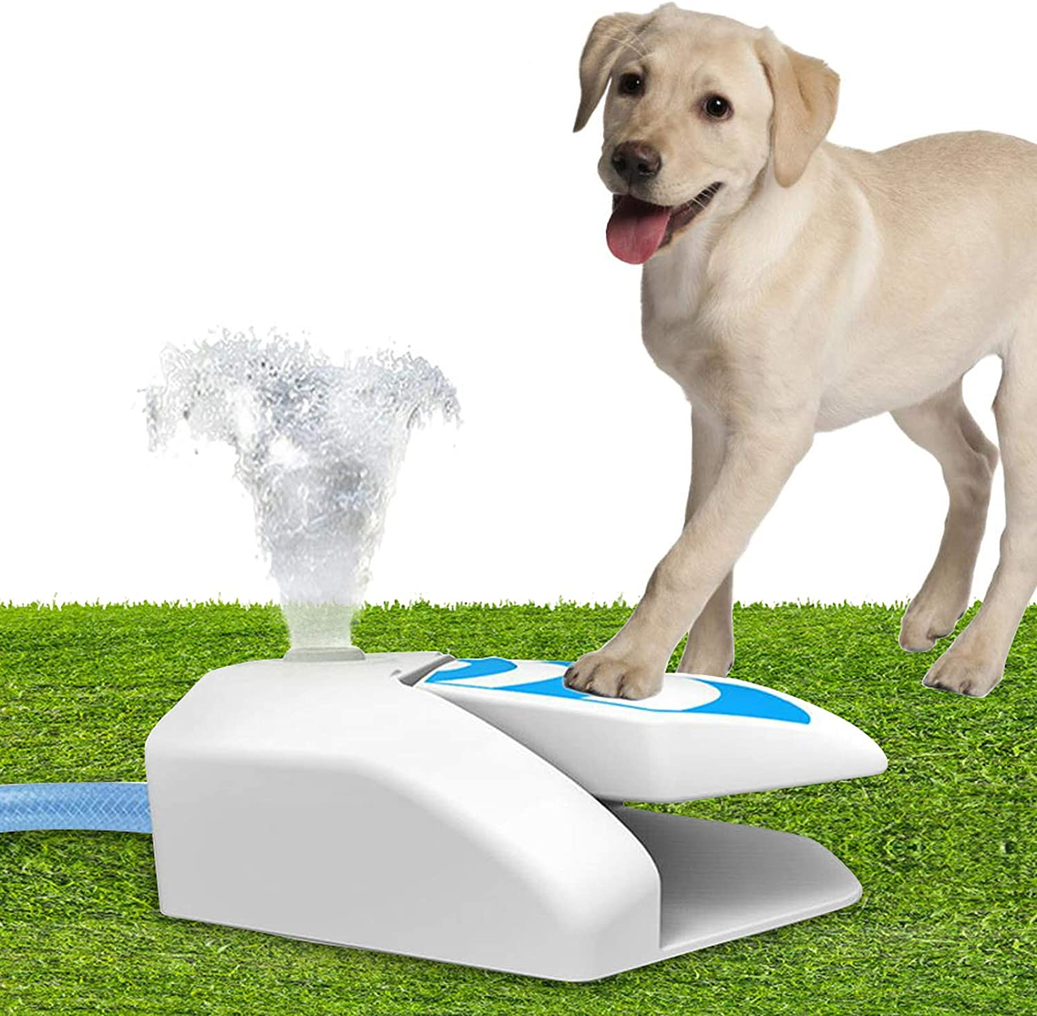 Dog Outdoor Water Fountain Doggy Garden Water Dispenser Step On, Chill Out Fresh Water