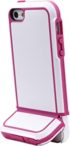 Body Glove Tracksuit Cell Phone Case for iPhone 5/5s/SE, White/Dark Pink