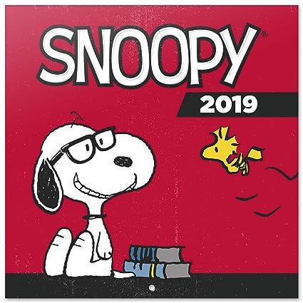 Grupo Erik Editores CP19033 - Calendario 2019 Snoopy, 30 x 30 cm