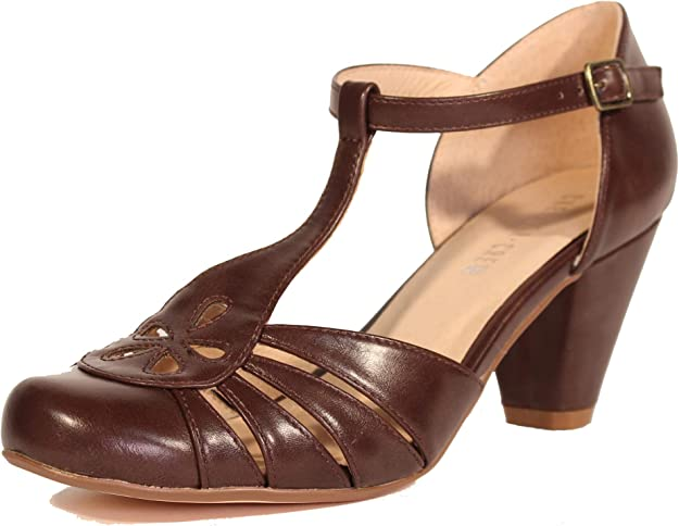 Women's 1920s Shoe Styles and History Chelsea Crew Memories Womens T-Strap Heels $89.99 AT vintagedancer.com