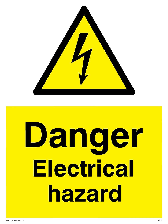 vinilo 200/mm x 150/mm W Viking signos we67-a5p-vpeligro el/éctrico peligro signo
