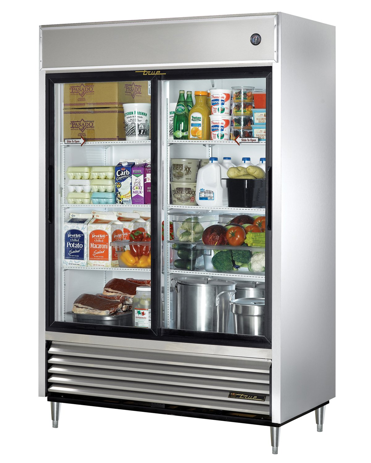 Design Fridge With Glass Door amazon com true tsd 47g ld 2 door sliding glass refrigerator industrial scientific