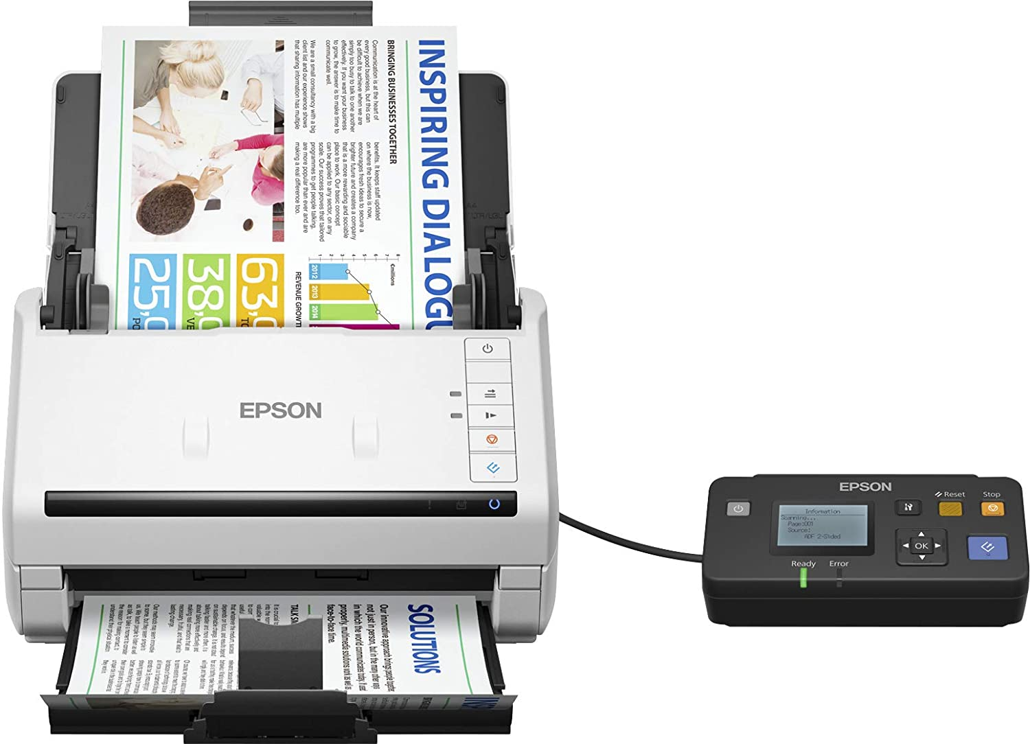 Epson DS-530N WorkForce A3 Colour Business Scanner: Amazon co uk