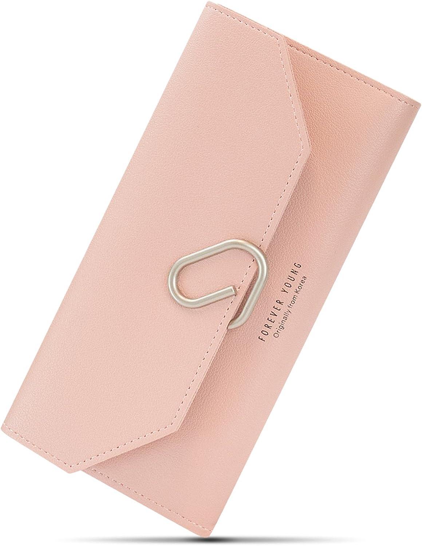 Womens Wallet, [Clip] Slim Purse Clutch Carrying, Handbag by Envriee