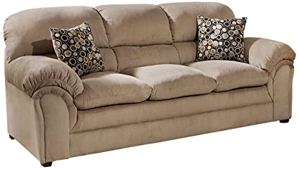Merveilleux Simmons Upholstery 6150 03 Harper Cocoa Sofa