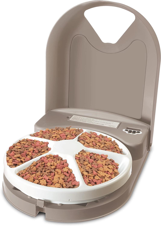 comedero rotatorio automatico para gato comidad desde fuera de casa