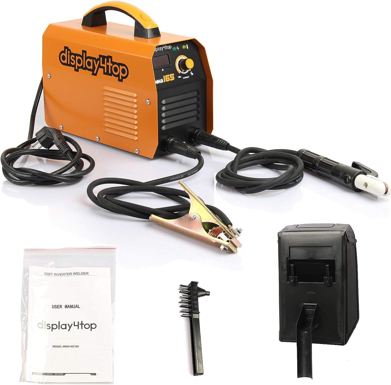 Display4top 200 Amp Inverter ARC MMA Welder Pantalla LCD digital Máquina de soldadura portátil de arranque en caliente (MMA 165)