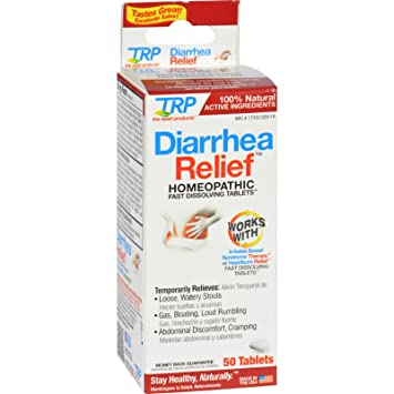 TRP Diarrhea Relief - Natural - Homeopathic- 50 Tablets (Pack of 2)