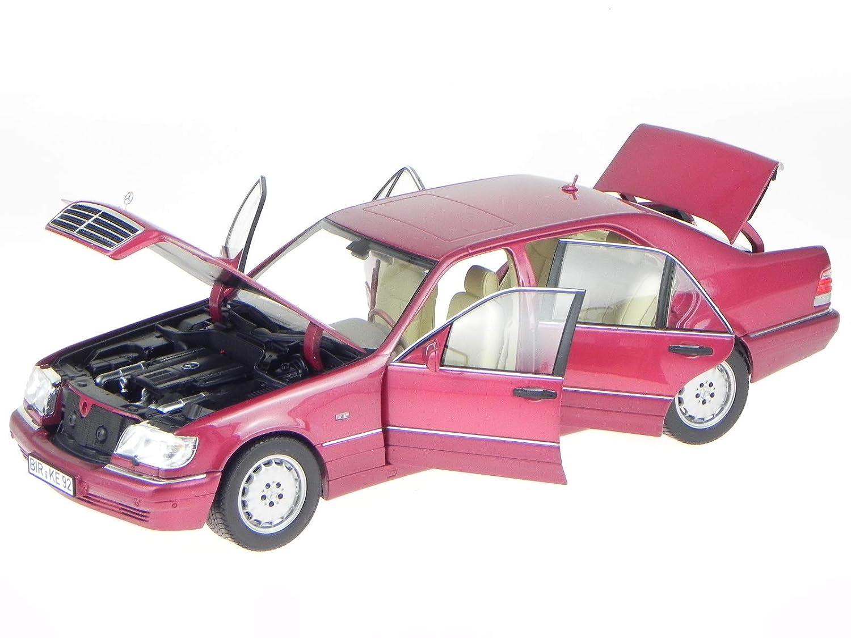 Norev Mercedes W140 S-Klasse S 500 1997 rotmet. Modellauto 183579 1:18