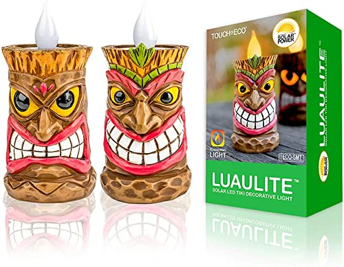 Solar LED Tiki Decorative Lights – Perfect for Your Garden, Patio, Bar, or Outdoor Living Area – Chief Warrior