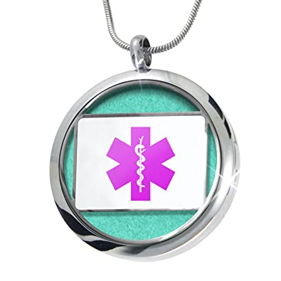 Amazon com: NEONBLOND Medical Alert Purple Hospital Logo