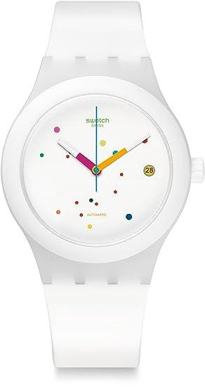 Swatch Reloj Digital para Hombre de Automático con Correa en Silicona SUTW400: Amazon.es: Relojes