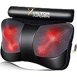 VIKTOR JURGEN Neck Massage Pillow Shiatsu Deep Kneading Shoulder Back and Foot Massager with Heat-Relaxation Gifts for…