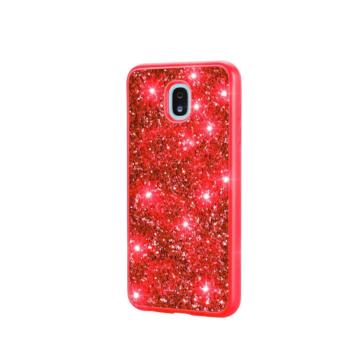 Sainagce Etui Coque Samsung Galaxy J7 2018,Housse en TPU Premium Diamant Scintillant Case Etui Coque pour Samsung Galaxy J7 2018