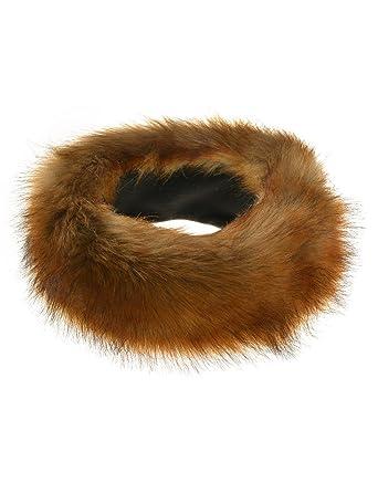 594bfad303f New Ladies Russian  quot FOX  quot  Faux Fake Fur Hat HeadBand Winter  Earwarmer Hat