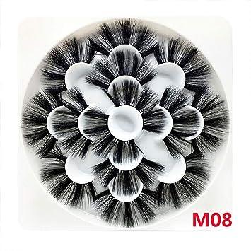 c9eb21da6b9 7 Pairs natural 8D Mink Hair False Eyelashes 25mm Long Lashes Extension Thick  Wispy Fluffy Handmade