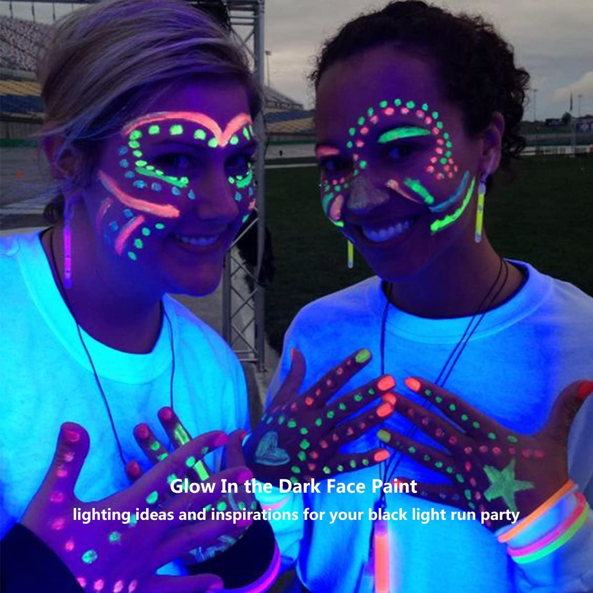 Uv Blacklight Face Paint Escolite Face And Body Paint For Run Party Neon Fluorescent Safe Non Toxic 0 68oz 20ml Set Of 6 Tubes Rgbopy Amazon Ca Home Kitchen