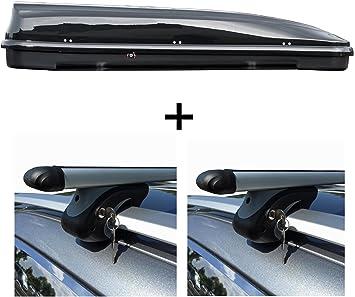 Dachbox 460 Liter Relingträger Alu Kompatibel Mit Vw Golf Iv Variant Kombi 1j 99 07 Schloß Auto