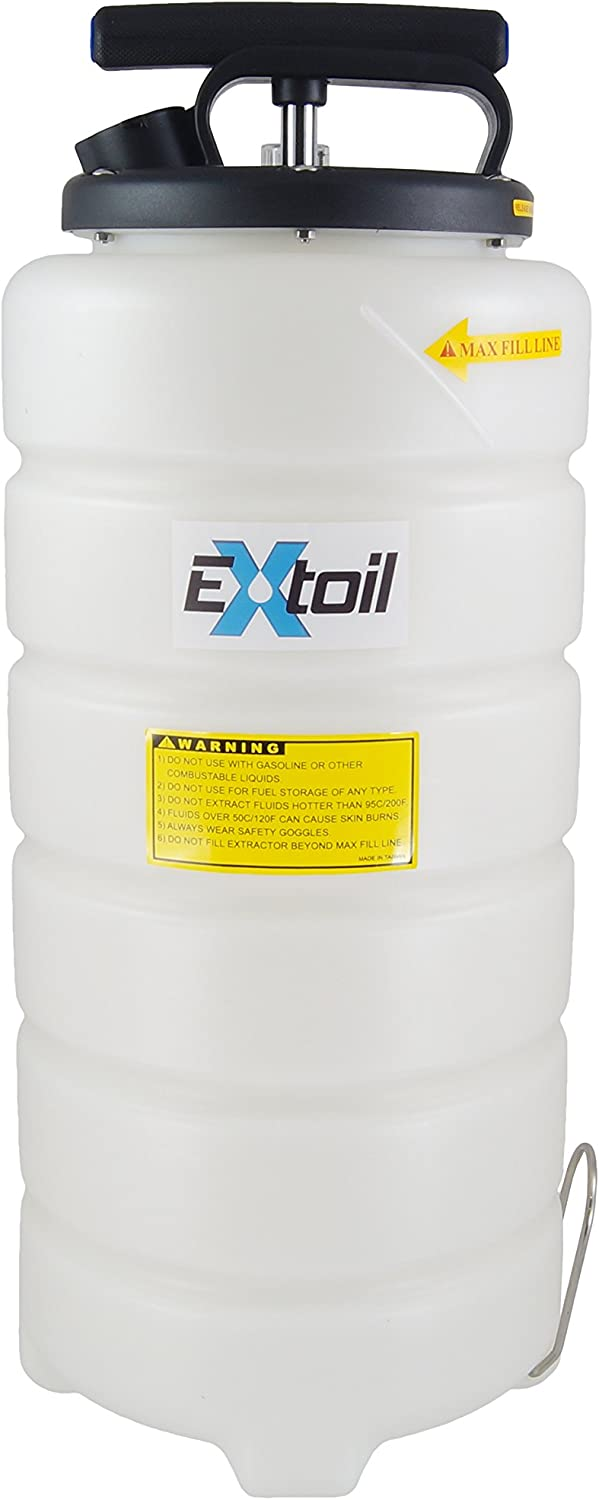 EXtoil 15 Liter Oil Extractor with Vacuum Gauge
