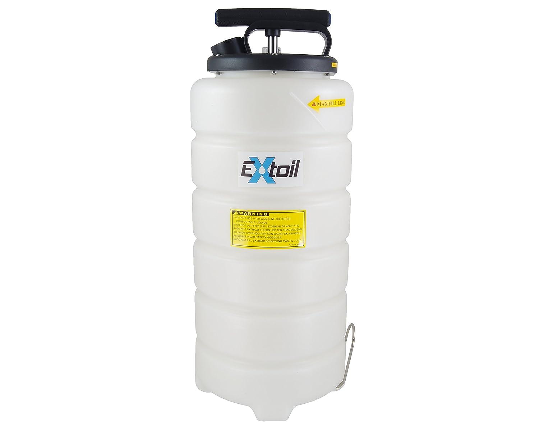 EXtoil 15 Liter Oil Extractor with Vacuum Gauge