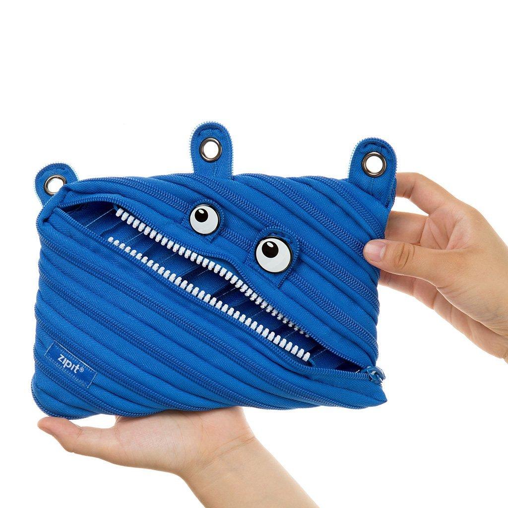 Zipit Trousse Monstre Porte-crayon Medium bleu