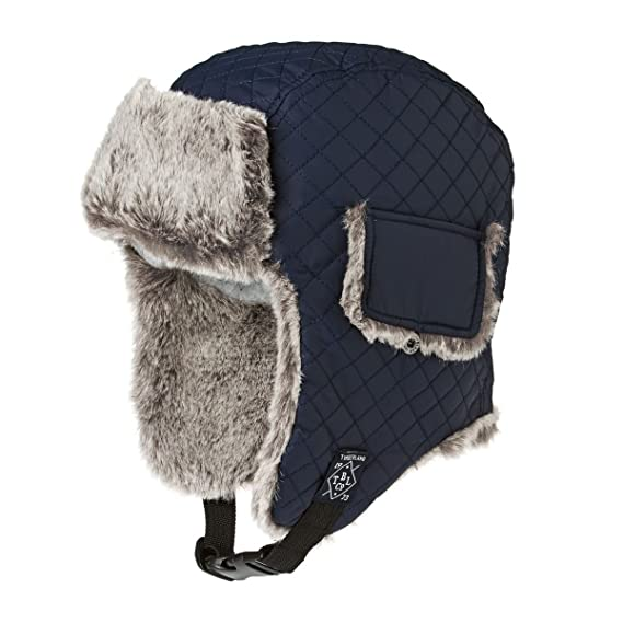 a23142a8d6886 TIMBERLAND Boys Navy Blue Ear Flap Hat (50)  Amazon.co.uk  Clothing