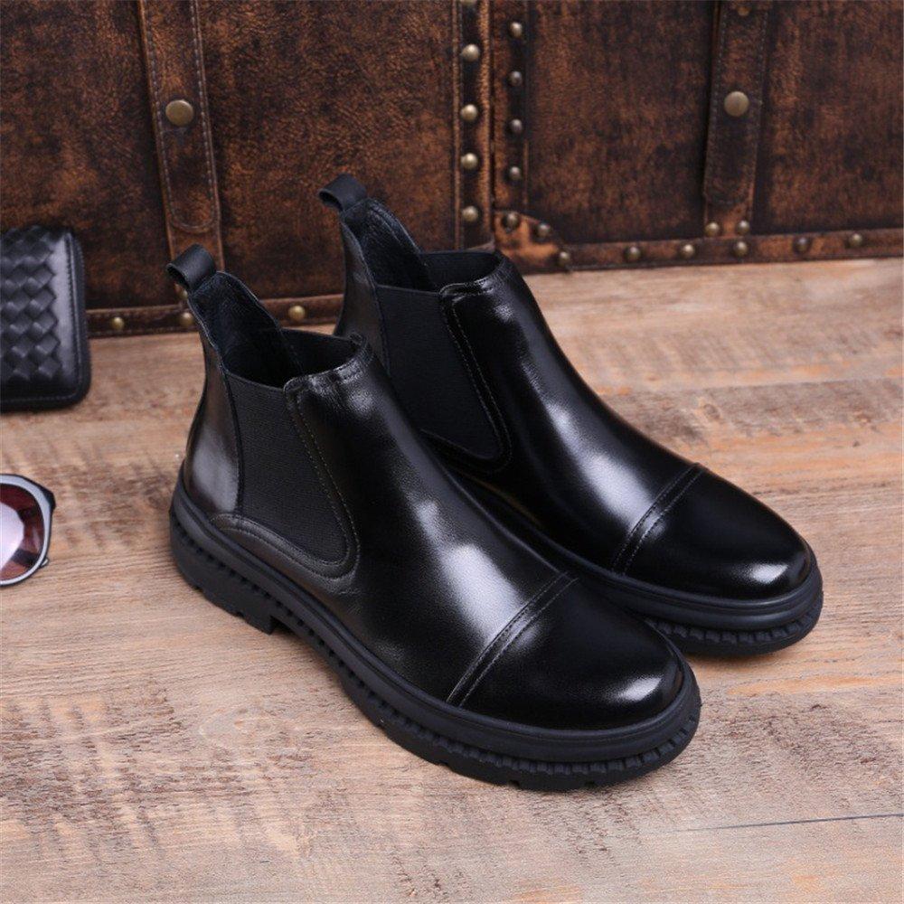 Männer Männer Männer - mode - stiefel, hohe stiefel für männer kleid lederstiefel mit dicken unteren ärmel martin stiefel,schwarz,44 10edb8