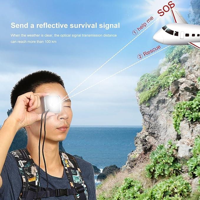 Multifonctionnelle Outdoor-survival-signal miroir signal miroir survie étoile