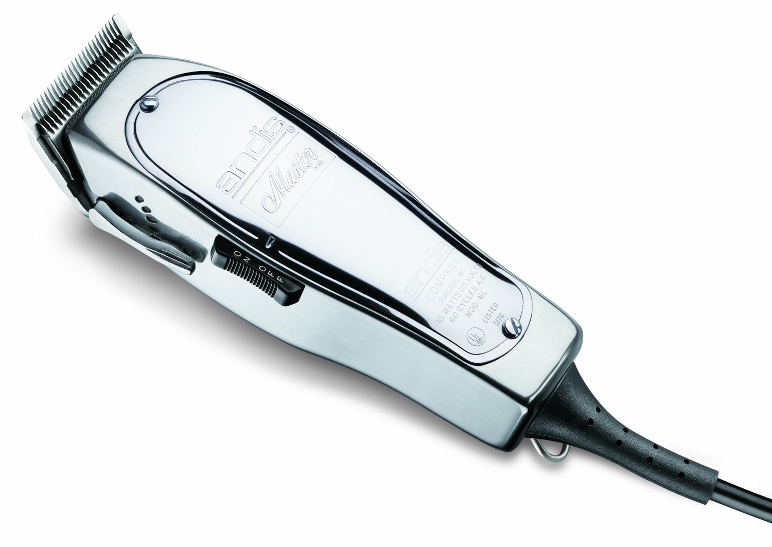 Andis 01557 Professional Master Adjustable Blade Hair Clipper, Silver
