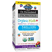 Garden of Life Dr. Formulated Probiotics Organic Kids+ plus Vitamin C & D - Berry...