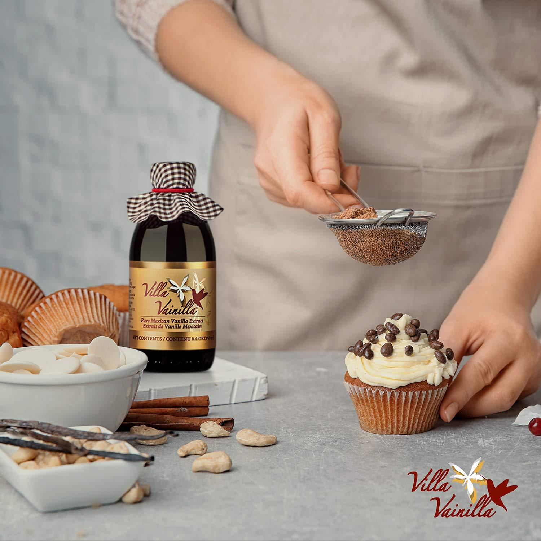 Villa Vainilla pure vanilla extract (8.4 fl.oz.) - Made with Premium, Hand-Picked Vanilla Beans - genuine and Natural Gourmet Flavor from Mexico - Kosher, vegan, GF by Villa Vainilla (Image #7)