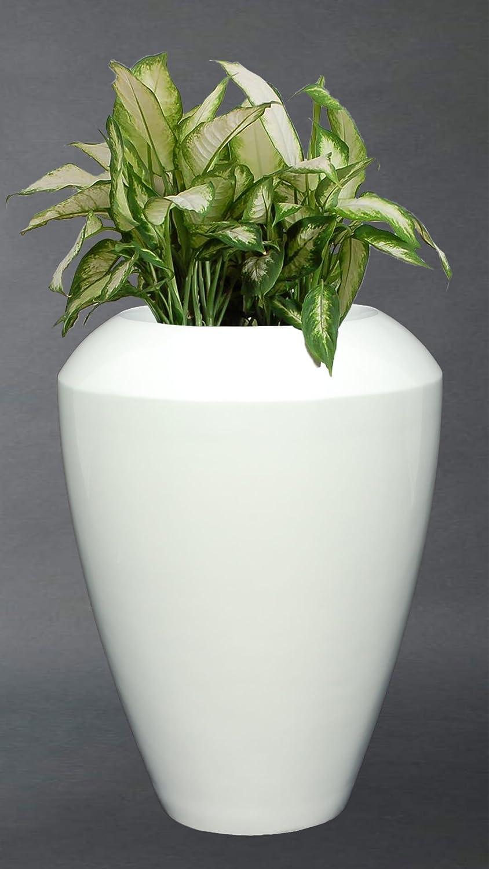 pflanzk bel blumenk bel aus fiberglas aura 68 cm wei hochglanz g nstig kaufen. Black Bedroom Furniture Sets. Home Design Ideas