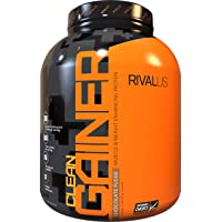 Rivalus Clean Gainer - Chocolate 5 Pound - Delicious Lean Mass Gainer with Premium Dairy Proteins, Complex Carbohydrates…