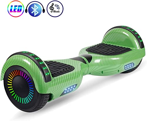 LENOGE Hoverboards 6.5 Two-Wheel Self Balancing Scooter with Bluetooth Speaker LED Lights,Hoverboard for Kids