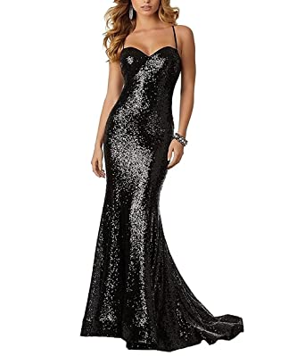 menoqo Sequin Prom Dress Spaghetti Mermaid Sexy Evening Gowns Prom Dresses Long For Women