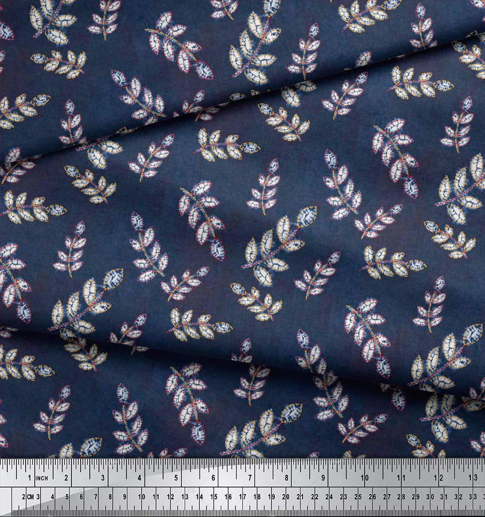 "Shibori Print 2-Way Stretch 60/"" Wide Velvet Fabric For Sewing 1 mtr"