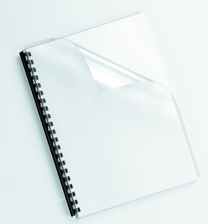 Giallo Formato A4 Confezione da 100 Pezzi 200 Micron Fellowes 5377001 Copertine per Rilegatura in PVC Colorato