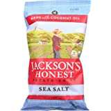 Jackson's Honest Sea Salt Potato Chips Made with Coconut Oil, 5 Ounce