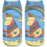 HENGSONG Women Girls Cute Unicorn Pattern Socks Sports Stocking