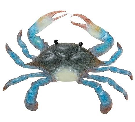 Amazon.com: Blue Crab Metal Indoor/Outdoor Wall Art Décor: Kitchen ...
