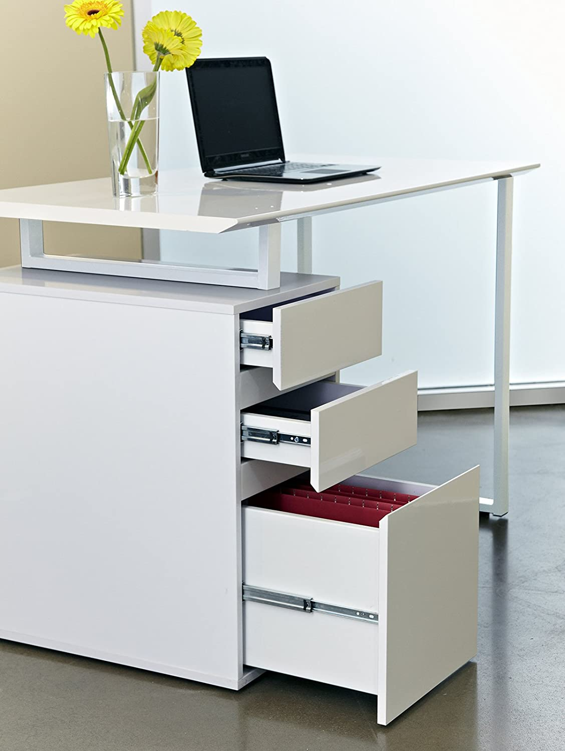 desk casual sauder pd with computer drawer drawers shop white com at lowes harbor view