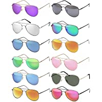 Hatstar Pilotenbrille Verspiegelt UNISEX für Damen und Herren Sonnenbrille Brille mit Federscharnier UV400 CAT 3 CE
