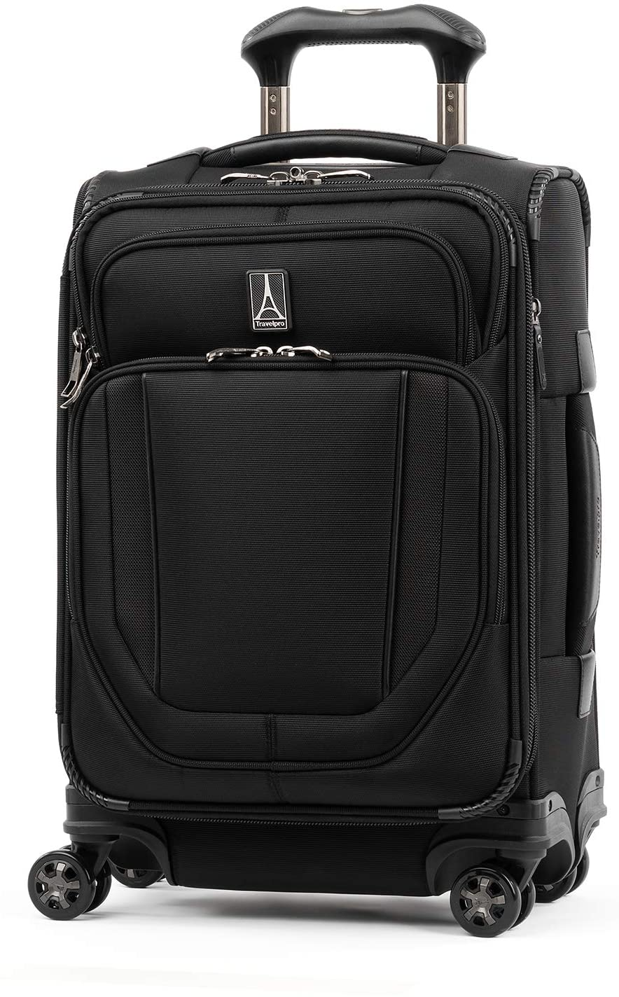 Travelpro Crew Versapack-Softside Expandable Spinner Wheel Luggage, Jet Black
