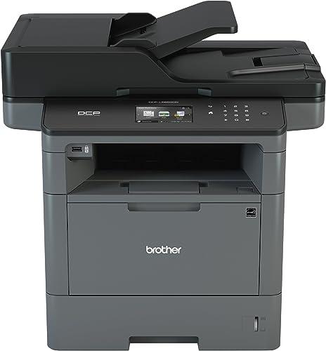 Brother Monochrome Laser Printer, Multifunction Printer and Copier, DCP-L5650DN, Flexible Network Connectivity, Duplex Print Copy Scan, Mobile Device Printing, Amazon Dash Replenishment Ready