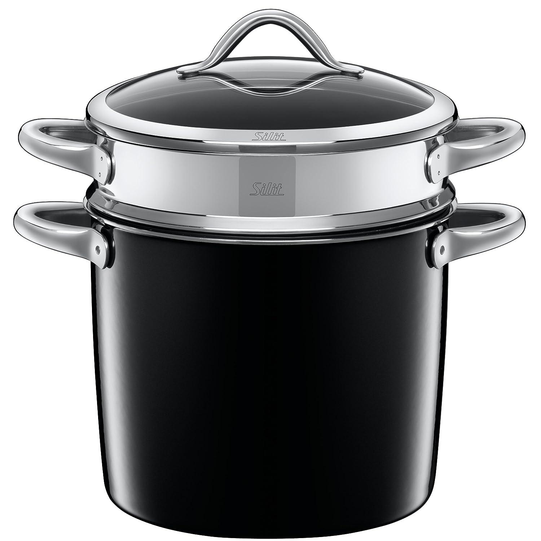 "Silit ""Vitaliano Nero Pasta Pot with Lid, Black, 24 cm WMF Group GmbH 2131273332"