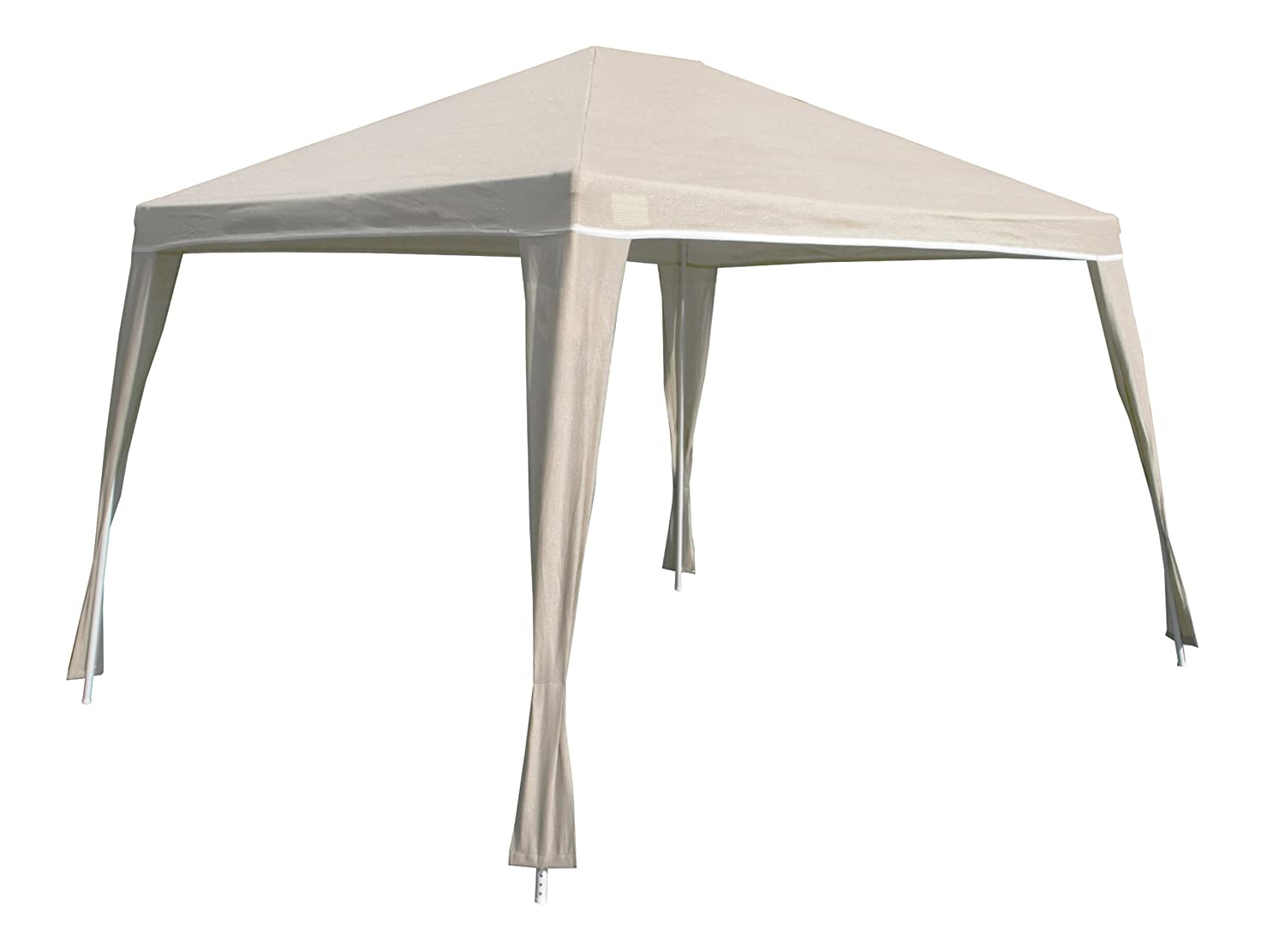 Amazon Coolaroo Isabella Steel Post Gazebo 10 Foot By 12 Camel Garden Outdoor