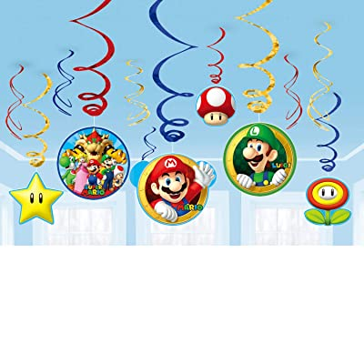 Super Mario Brothers Value Pack Foil Swirl Decorations, Party Favor: Toys & Games