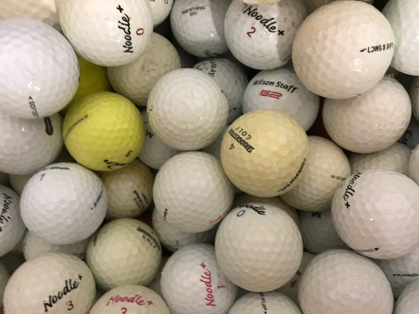 2000 Hit-Away Mix (Shag) - Recycled (Used) Golf Balls by Unknown (Image #2)