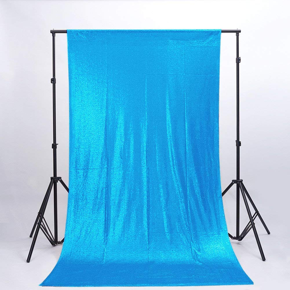 ShinyBeauty Photo Backdrop Best Choice 4FT6FT Turquoise New Sparkly Sequin Photo Backdrop, DIY Photobooth, Wedding Backdrop, Photo Booth, Photography Backdrop,Sparkle Backdrop, Ready to Ship!! by ShinyBeauty