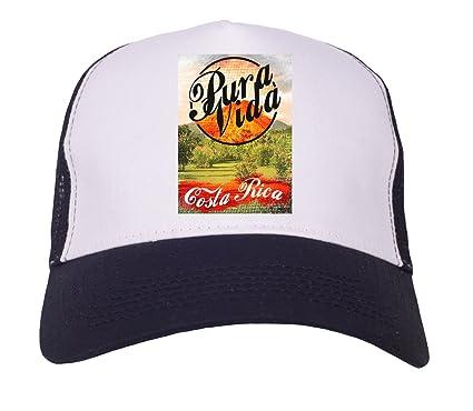 Image Unavailable. Image not available for. Colour  Pura Vida Costa Rica Trucker  Cap 2663fc36349